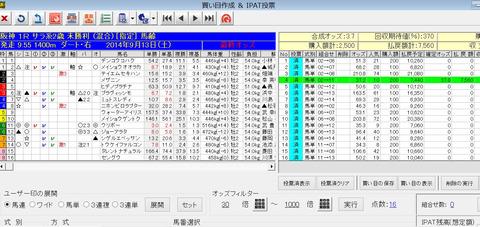 バケモン_9月13日阪神1R