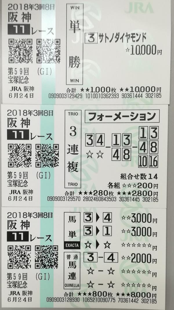 馬券_宝塚記念