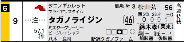阪神4R_タガノライジン