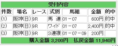 日曜阪神9R