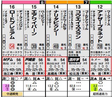 土曜阪神5R馬柱