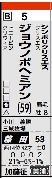 日曜京都9Rジョウノボヘミアン