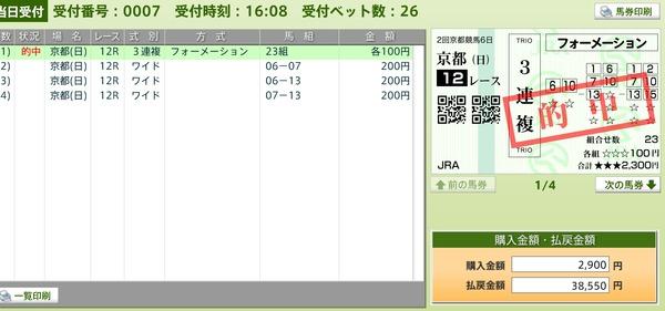 買い目12R