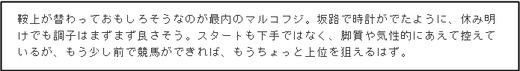 コラムオクノ_土曜京都12R