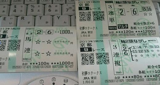 馬券_0106京都9R菊池