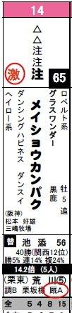 データ新聞_京都11Rメイショウカンパク