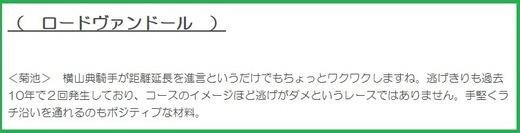 180114日経新春杯・穴推奨菊池