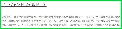 201024富士S穴推奨