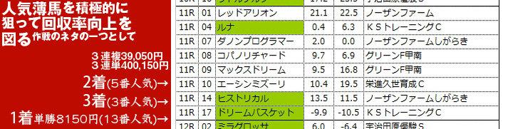 大駆け期待馬日曜阪神11R