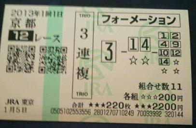 馬券_0105京都12R菊池