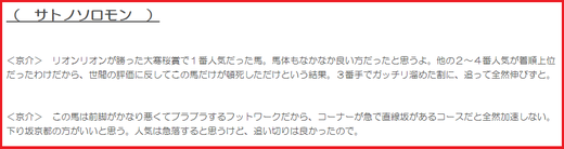 190504京都新聞杯穴推奨