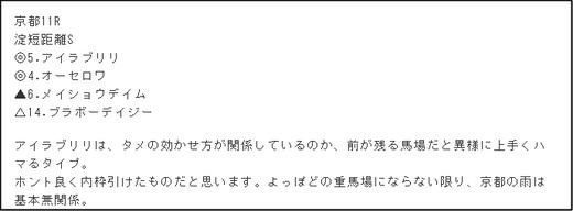 コラム京介_月曜京都11R