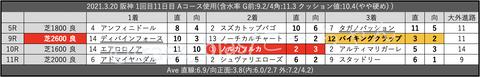 2021.3.20 阪神 1回目11日目 Aコース使用