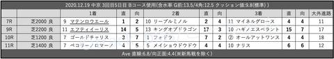 2020.12.19 中京 3回目5日目 Bコース使用