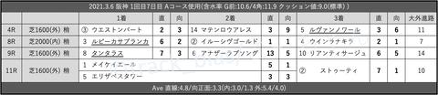 2021.3.6 阪神 1回目7日目 Aコース使用