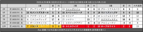 2020.8.29 新潟 3回目5日目 Aコース使用
