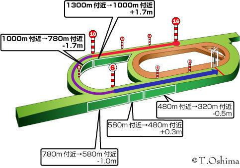 新潟芝1600m