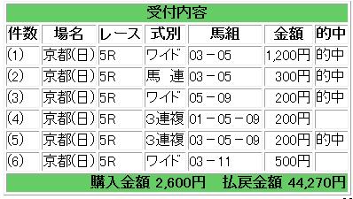 日曜京都5R