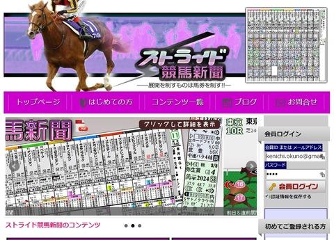ストライド競馬新聞サイト