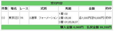 東京7レース3連単