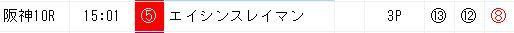 ジャッジメント推奨穴馬3頭0915阪神10R