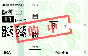 0927阪神11Rパドック単勝