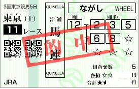 0621東京11R決め穴軸馬連加重