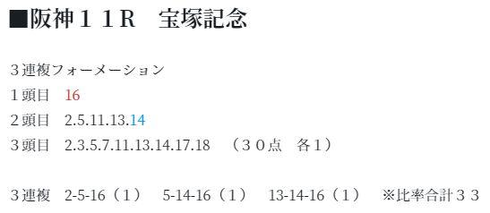 必買い馬券【第7クール】宝塚記念の買い目