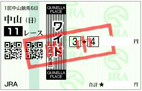 0117京成杯決めワイド1点加重馬券