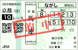 0518京都10R決め穴軸馬連