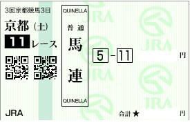 0430京都11R買うべき馬連1点