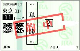 0625東京11R馬場読み単勝勝負馬券
