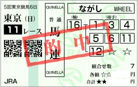 1117東京11r決め馬連基本流し