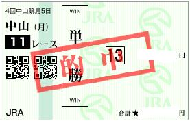 0921セントライト記念キタサンブラック単勝馬券