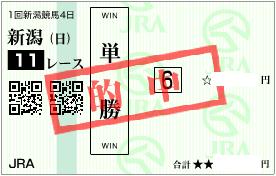 0510新潟大賞典決め軸単勝的中馬券