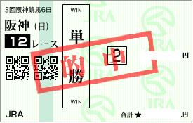 0622阪神12R堅軸単勝