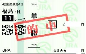 1116福島記念決め追跡馬の単勝