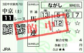 0726中京11R決め馬連加重