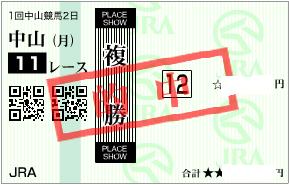 0105中山11R決め複勝