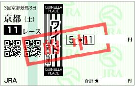 0430京都11R買うべきワイド1点
