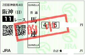 0402大阪杯決め穴軸から決め馬連