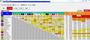 1224阪神11Rパドックチェッカー