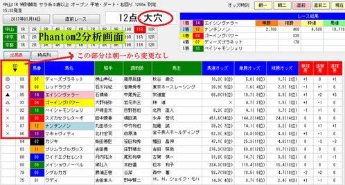 ファントム2分析0114中山11R