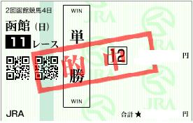 0716函館記パドック決め軸