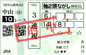 0112中山10r3連複2頭軸ロジック