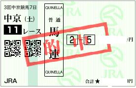 0722中京11R受け馬連1点