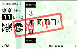 0627東京11R展開からの3連単勝負目