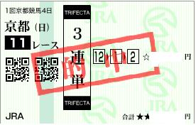 0112シンザン記念3連単1点