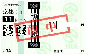 0430京都11R買うべき馬券1点