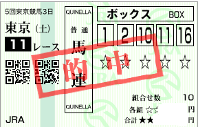 1115武蔵野S馬連ボックス